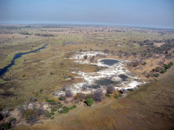 Okavango's Delta veduta aerea
