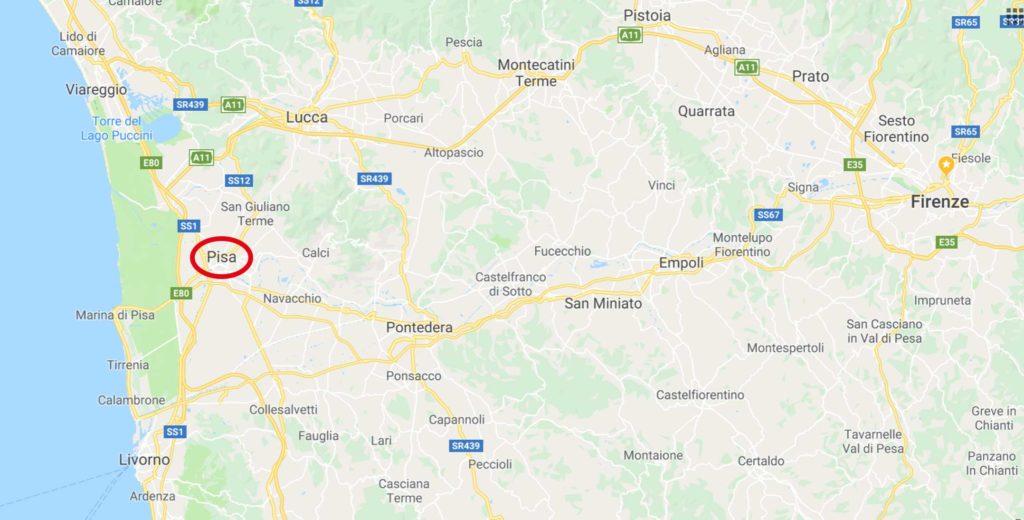 Dove si trova Pisa