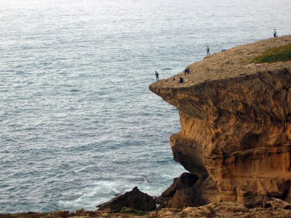 Portogallo Pescatori dalle scogliere