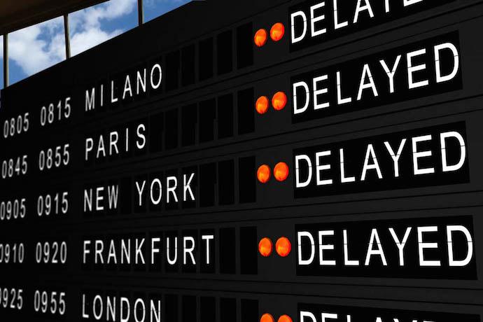 Voli cancellati e voli in ritardo