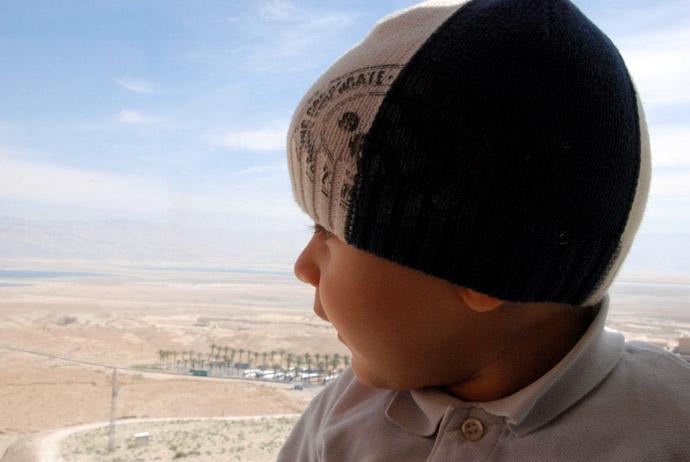 masada israele coi bambini