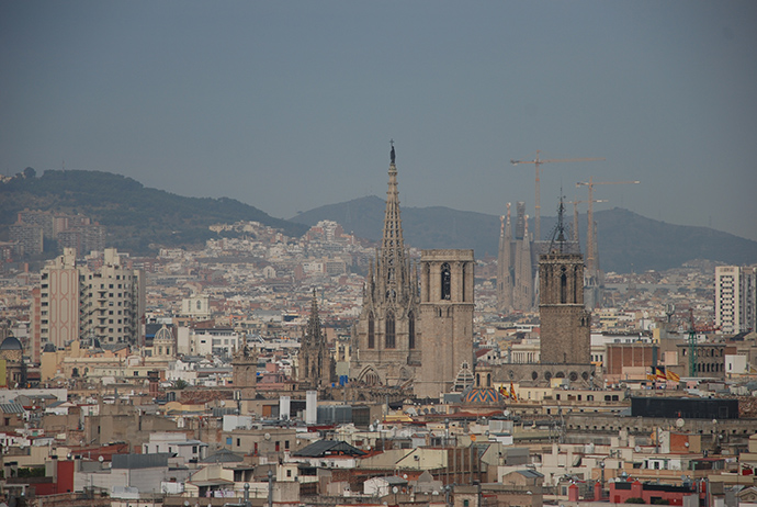 Barcellona la sera