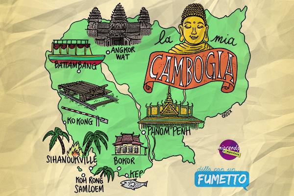 Itinerario di viaggio in Cambogia templi