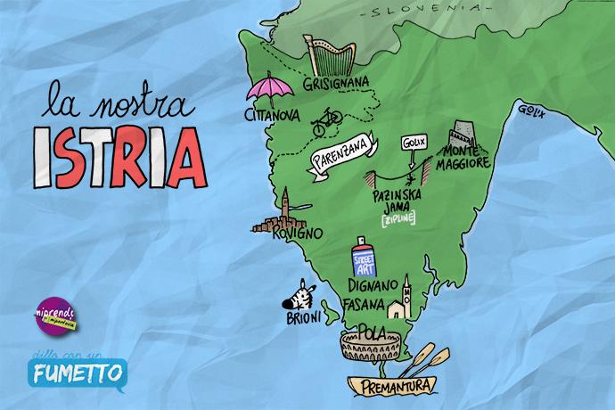 Itinerario di viaggio in Istria