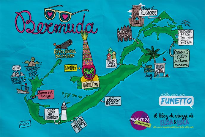 isole bermuda illustrazione