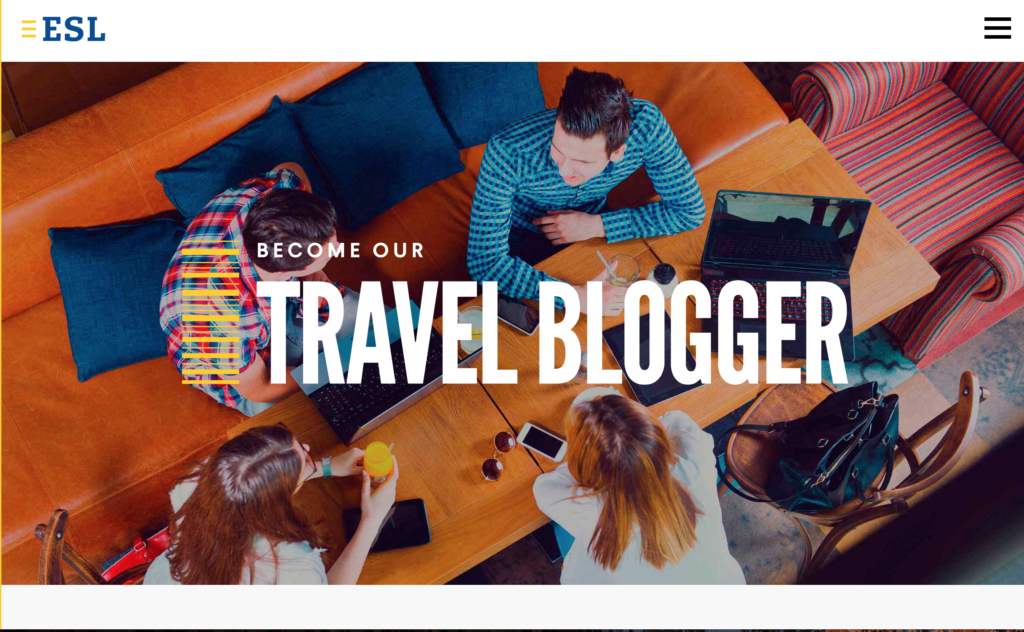 Contest travel blogger ESL