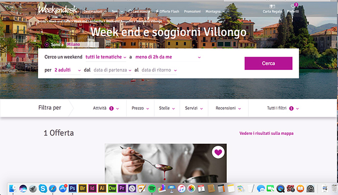 fuga d'amore con weekendesk