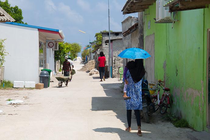 isole di pescatori delle Maldive