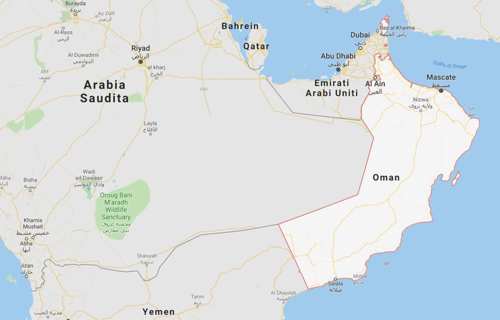 Oman mappa