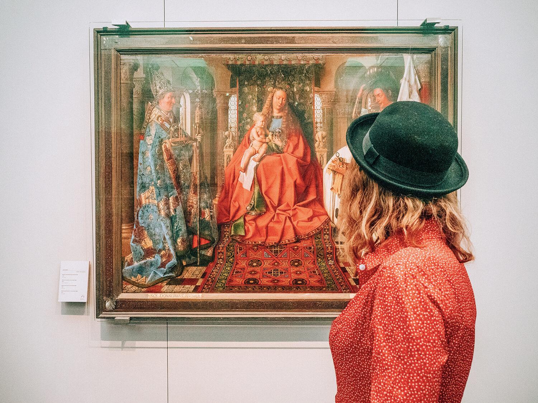 viaggio nelle Fiandre opere di Van Eyck