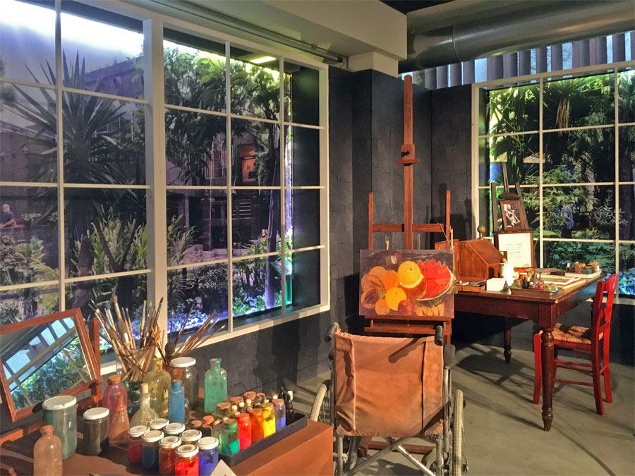 Ricostruzione dell'atelier di Frida Kahlo
