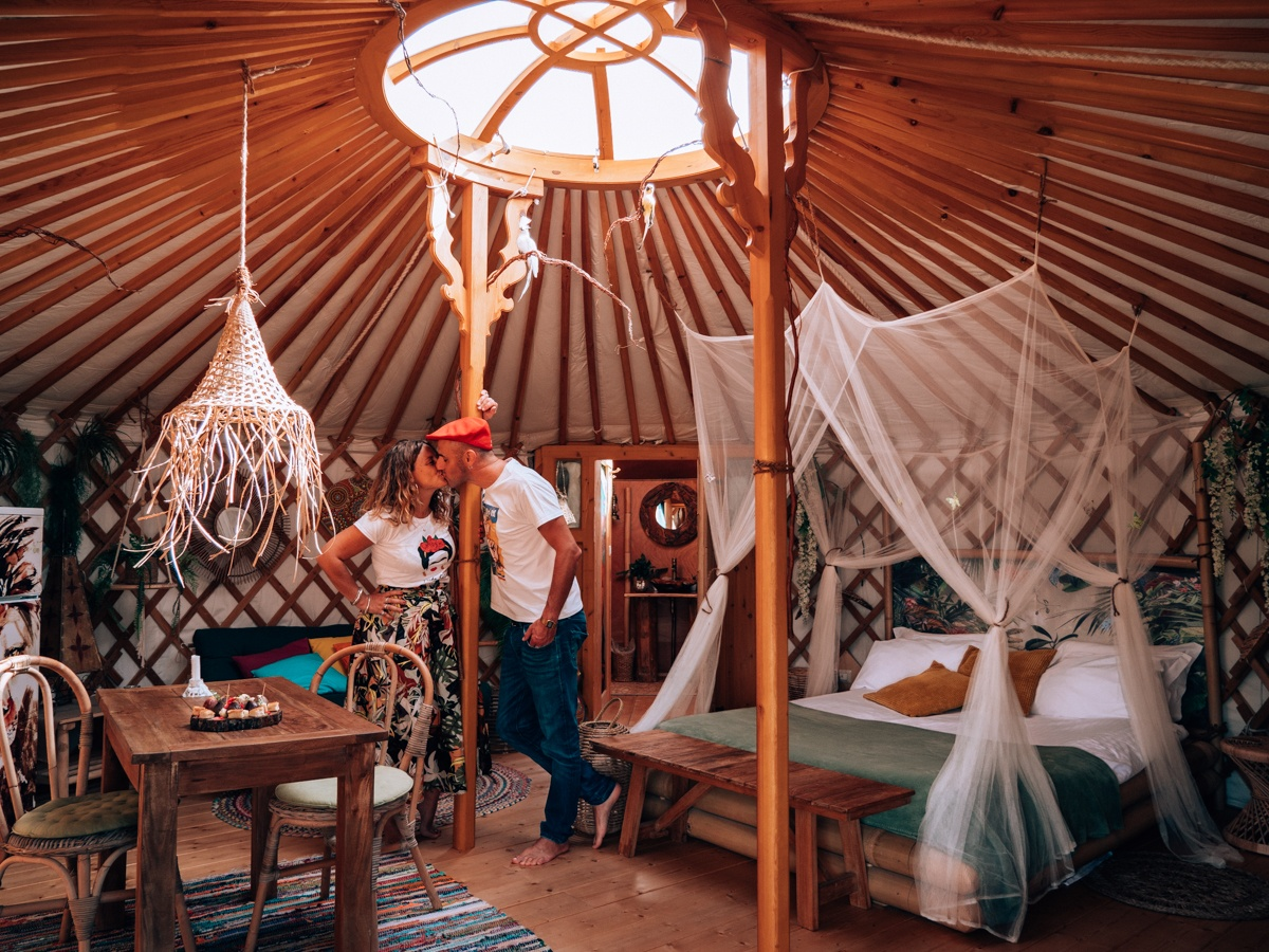 dormire in una yurta in toscana